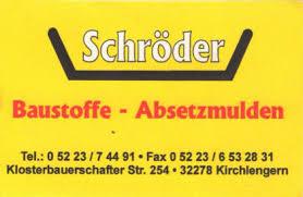 Schröder Baustoffe - Absetzmulden